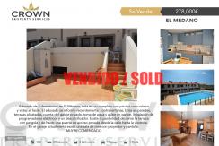 3 bedroom semi detached Villa in El Medano